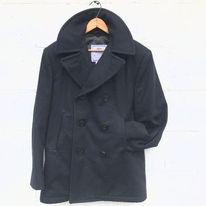 Quarterdeck Collection Wool Navy Pea Coat